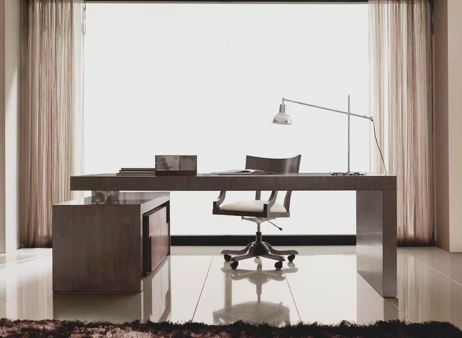 Despachos con dise o mesa de despacho con ala en nogal - Mesas de despachos ...