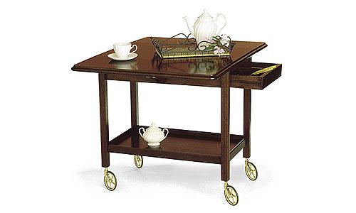 Mueble auxiliar camarera en nogal espa ol fabricante for Camarera mueble