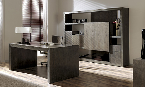 Despachos con dise o mesa de despacho en nogal espa ol for Muebles despacho diseno
