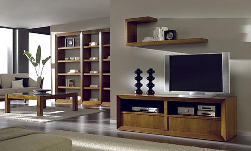 salones de diseño - mueble de tv en nogal español, artesmoble - Muebles Tv Diseno