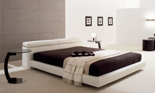 Dormitorios con personalidad cama de piel mod logan for Bad design for bedroom