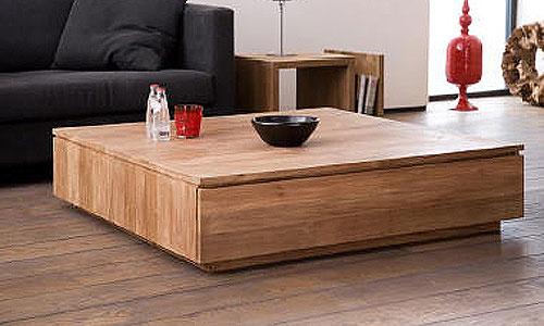 Salones de dise o mesa de centro en teca natural artespa a for Muebles de teca interior