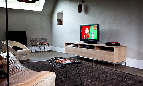 mueble tv en roble natural ref et50956 mueble de tv en roble natural