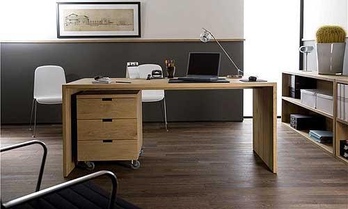 Despachos con diseño - Mesa despacho en roble natural