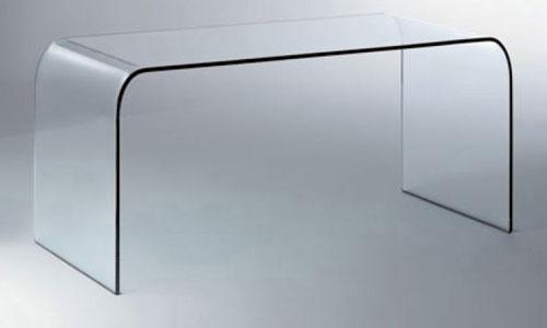 Escritorio mesa escritorio cristal decoraci n de - Mesa escritorio cristal ...