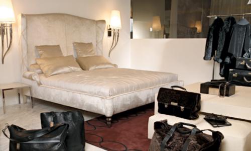 Dormitorios con personalidad cama cabecero alto tapizada - Cabeceros de cama con fotos ...