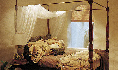 Dormitorios con personalidad cama dosel safari jnl mobilier - Cama con dosel ...