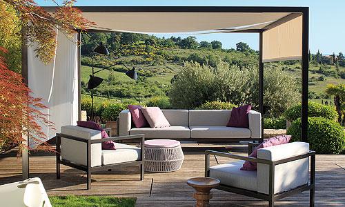 Mobiliario para exterior p rgola y conjunto de sof y for Conjunto de sofas para exterior