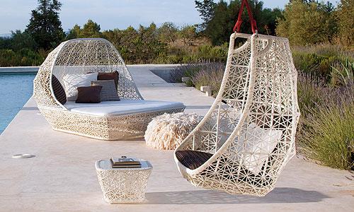 Mobiliario para exterior tumbona con capota mod maia - Barbacoas de diseno para exterior ...