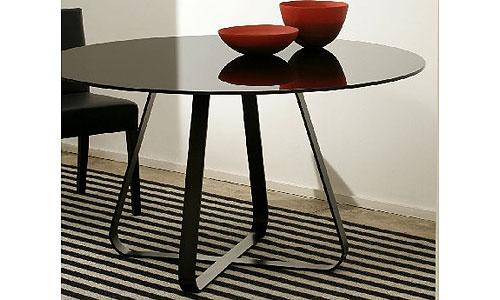 Ambientes Contemporáneos - Mesa de Comedor Redonda Mod. Glass 7 ...