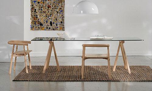 Comedores de dise o mesa mod log artelano - Mesa con caballetes ...