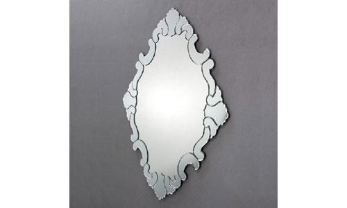 Espejos de dise o espejo cristal transparente forma rombo for Espejo transparente