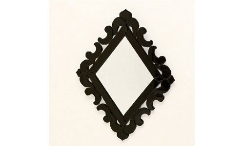 Espejos de dise o espejo marco cristal negro for Espejo marco cristal