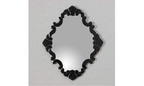 Espejos de dise o espejo marco cristal negro barroco for Espejo marco cristal