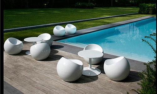 silla bola y mesa red
